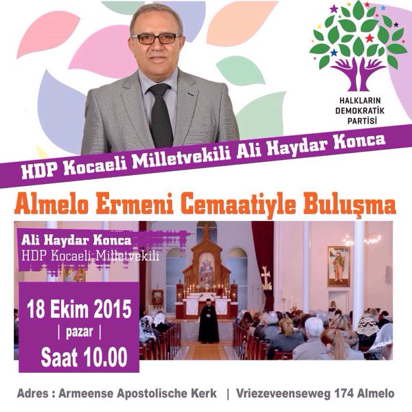 Hollanda'da Ermeni kilisesinin ayinine katilan HDP'li vekil bakin kimle beraberdi8