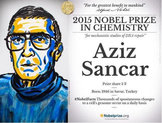 aziz sancar 2015 nobel prize